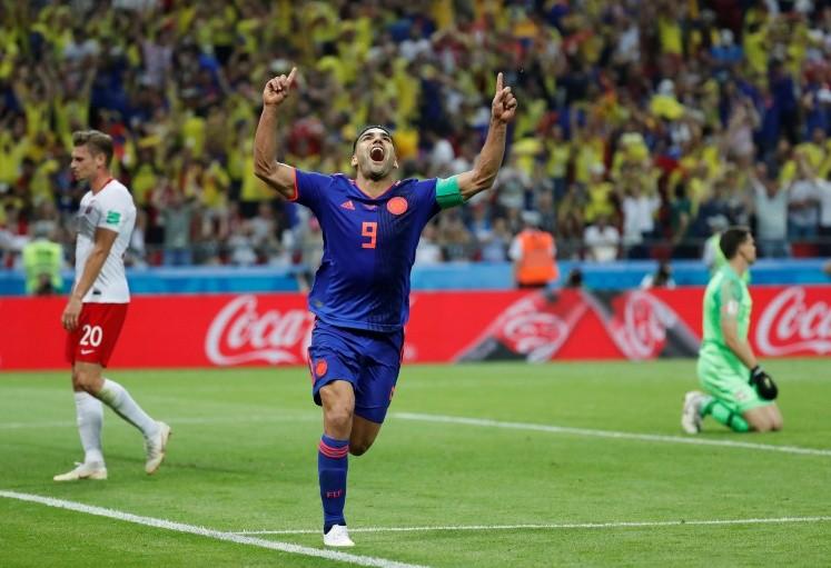 Colombia goleó a Polonia y mantuvo viva su chance de clasificación. Mina, Falcao y Cuadrado hicieron los goles.