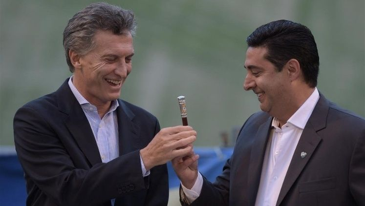 Macri y el DT de la Selección: