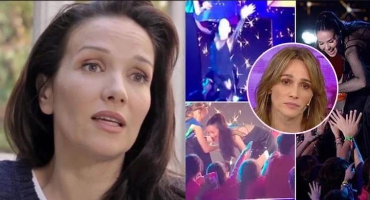 La terrible caída de Natalia Oreiro en el escenario
