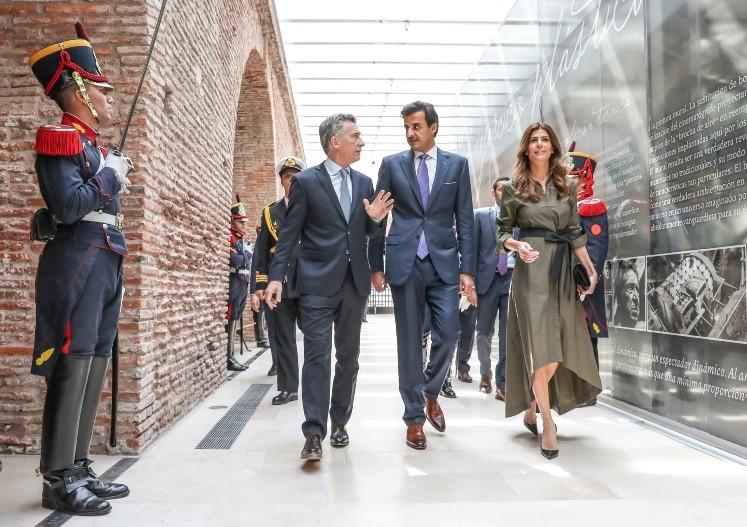 Macri se reúne con el emir de Qatar y espera inversiones