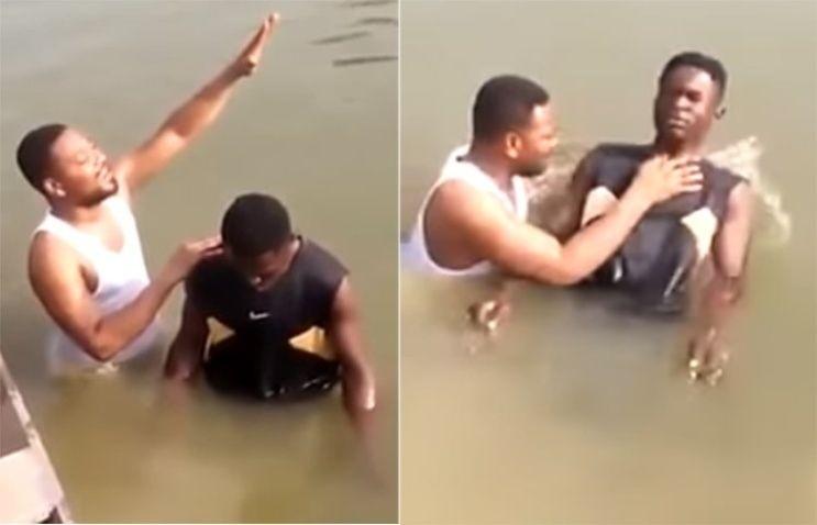 (VIDEO) Joven muere ahogado mientras es bautizado en un río