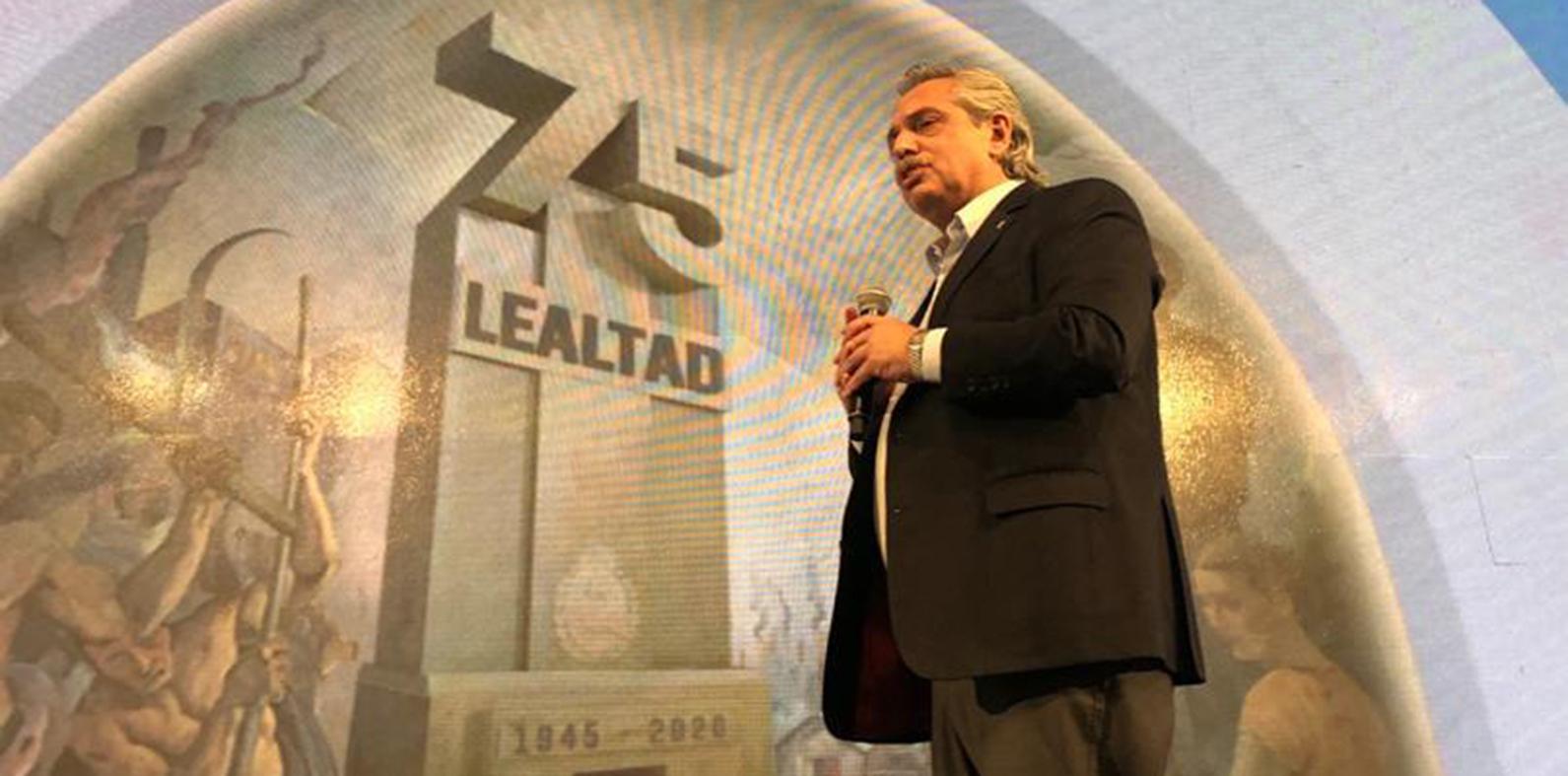 Desde la CGT, con gobernadores pero sin Cristina, Alberto llamó a la unidad social |