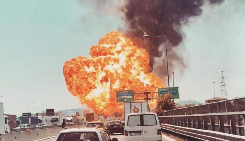 Fuerte explosión cerca del aeropuerto de Bologna — Italia